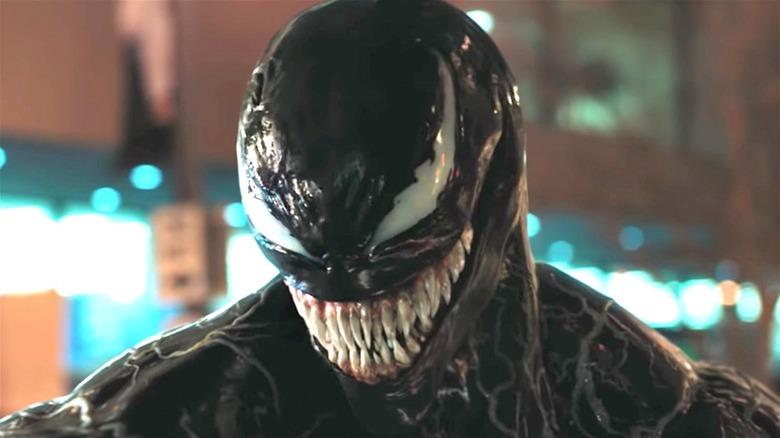 Venom grinning