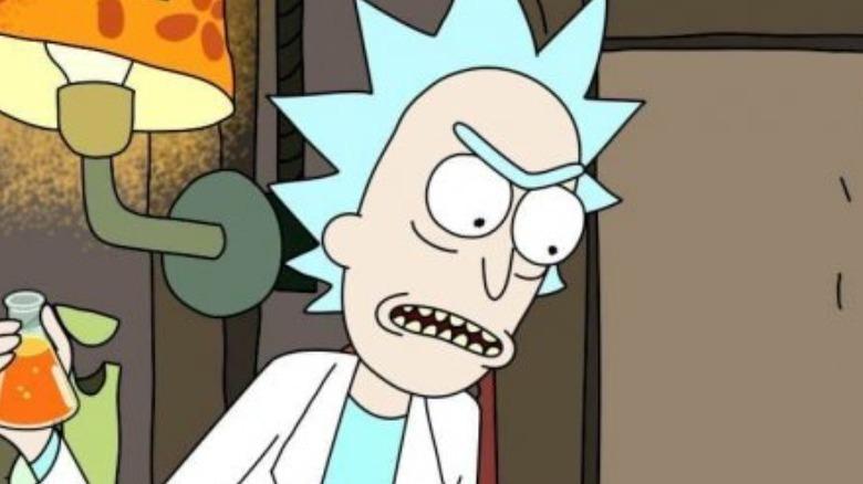 Rick holding potion