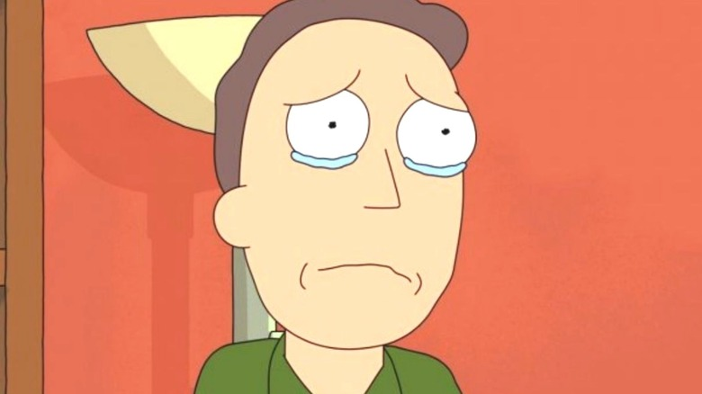 Jerry Crying Rick and Morty