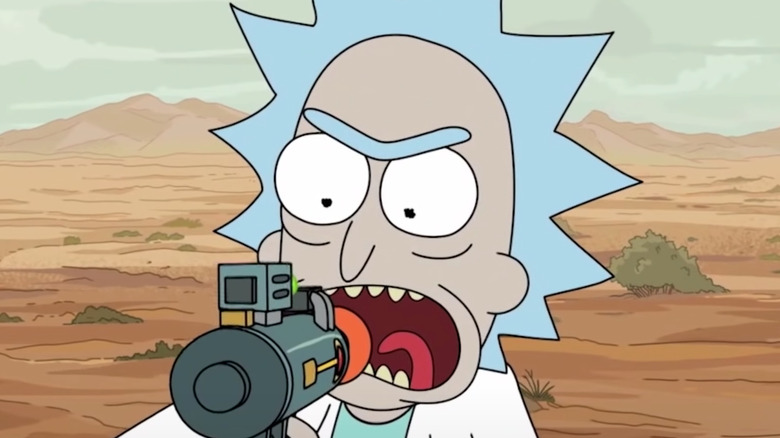 Rick with technology