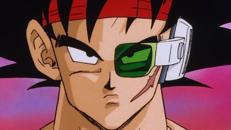 Bardock with a solemn, determined look