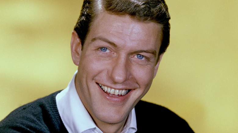 Dick Van Dyke with yellow background