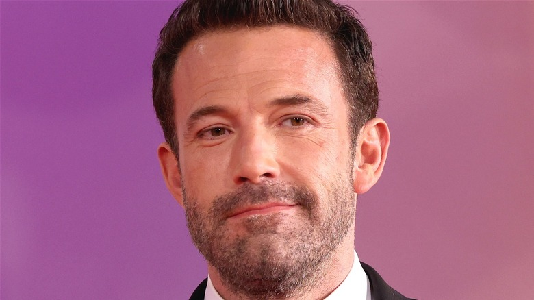 Affleck smiles at event