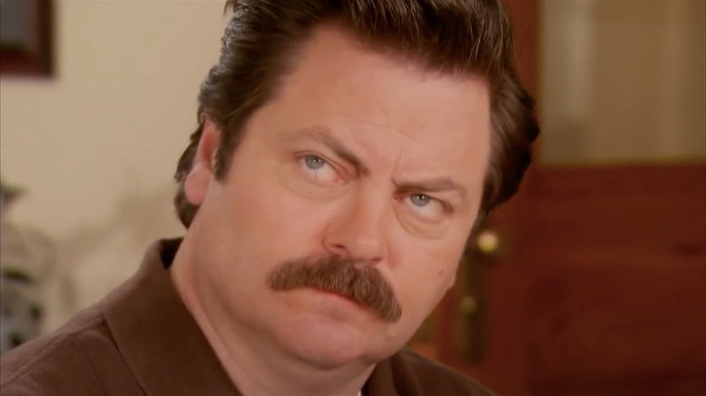 Ron Swanson looking skeptical