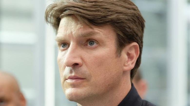 Nathan Fillion eyebrow raise
