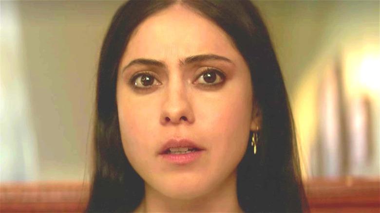 Rosa Salazar looking perturbed