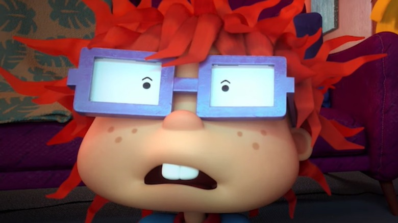 Chuckie Finster in Tommy's living room