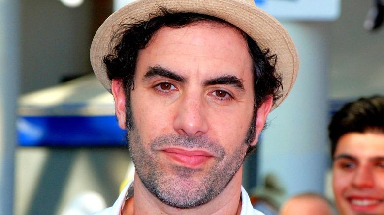 Sacha Baron Cohen wearing hat