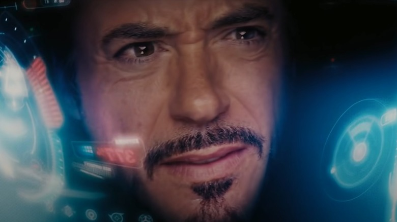 Iron Man looking confused