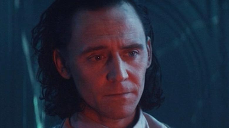 Loki looking sad in thought