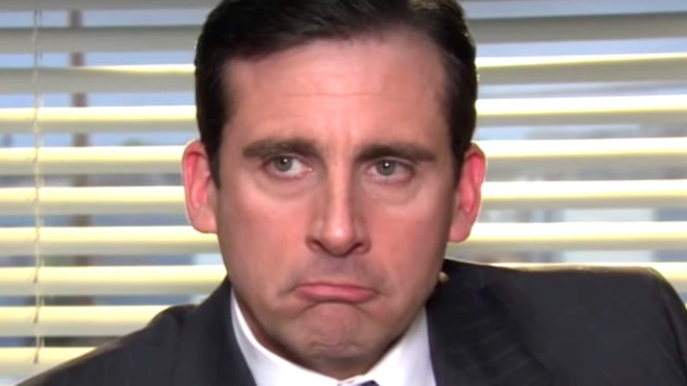 Michael Scott frowning