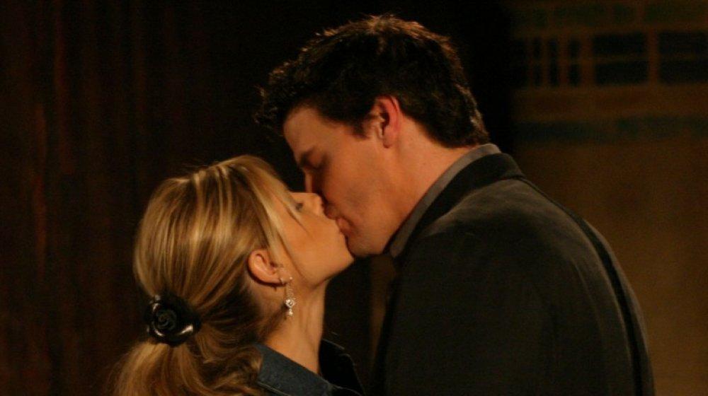 Buffy kisses Angel
