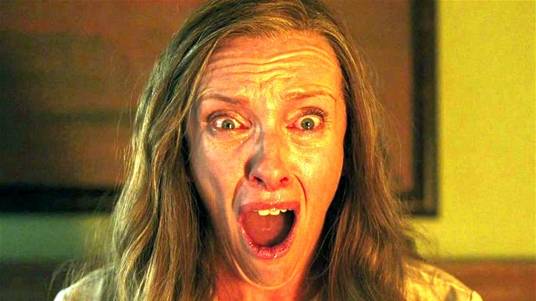 Toni Collette looking shocked