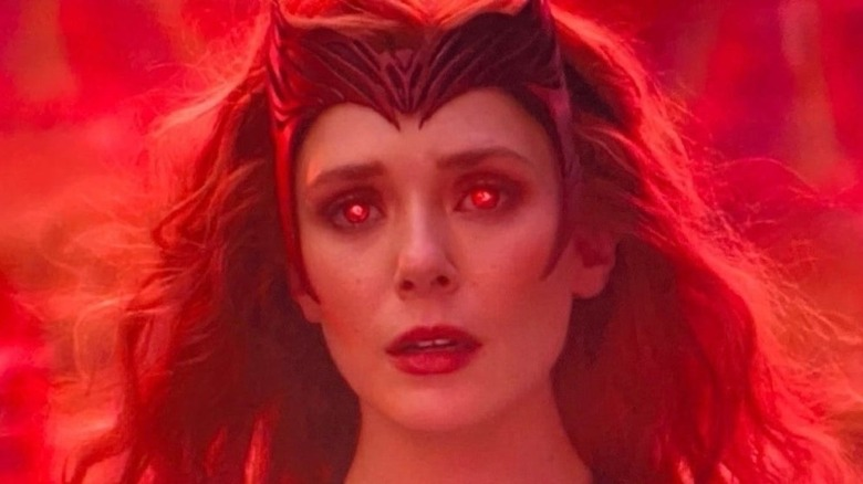 Scarlet Witch staring