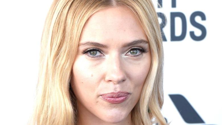 Scarlett Johansson in closeup