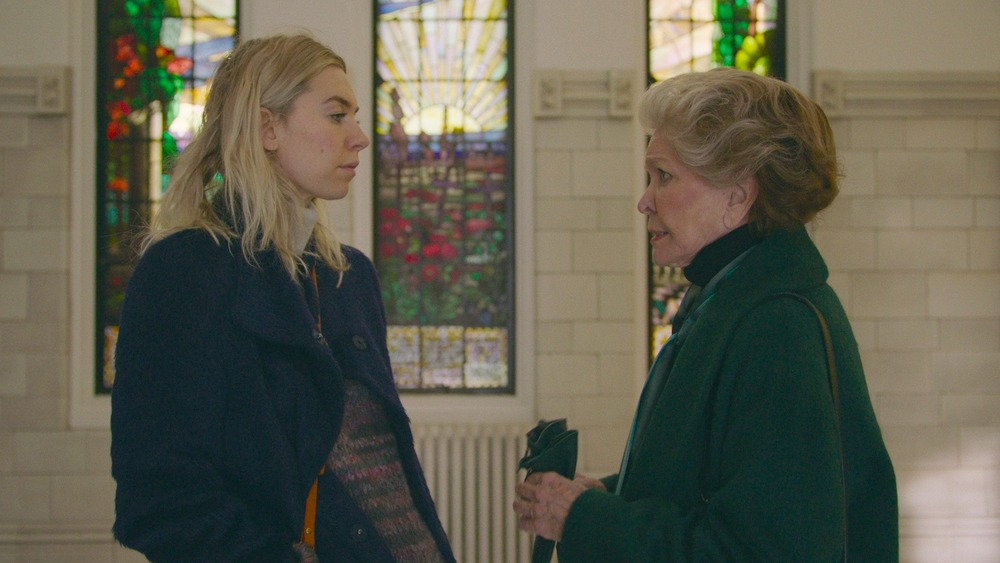 Vanessa Kirby and Ellen Burstyn having a difficult conversation in Pieces of a Woman