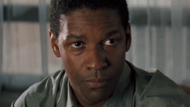 Denzel Washington green shirt