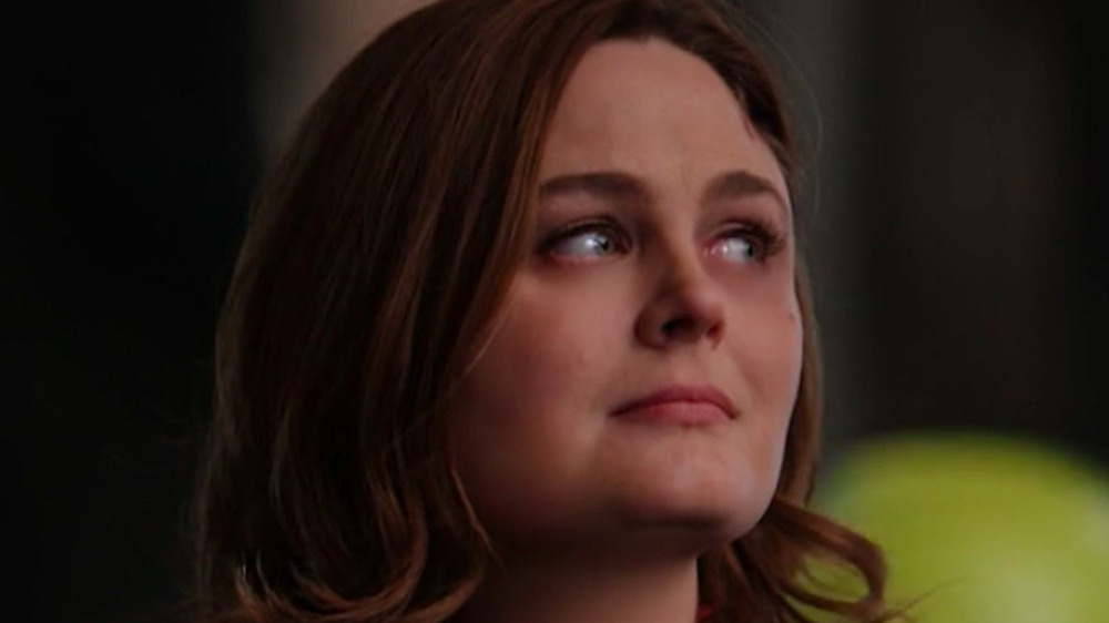 Emily Deschanel looking to the right