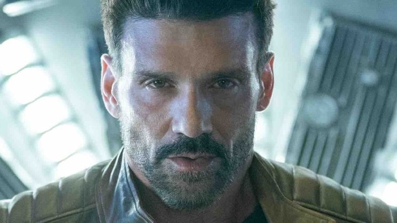 Frank Grillo staring straight ahead in Boss Level