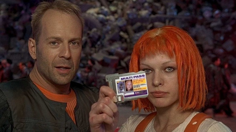 Bruce Willis and Milla Jovovich in The Fifth Element