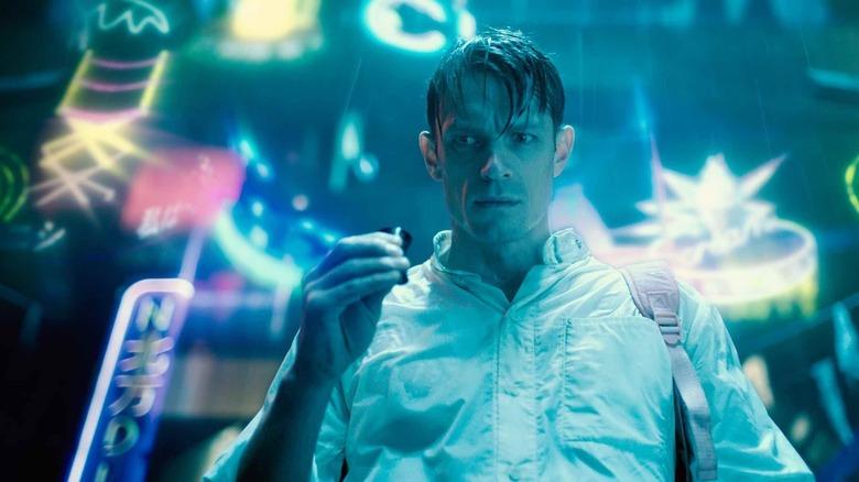 Joel Kinnaman as Takeshi Kovacs on Altered Carbon