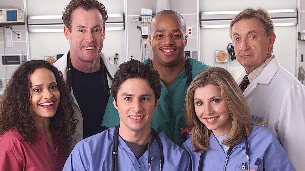 The cast of NBC's Scrubs