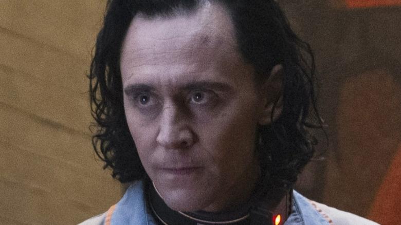 Loki scowling