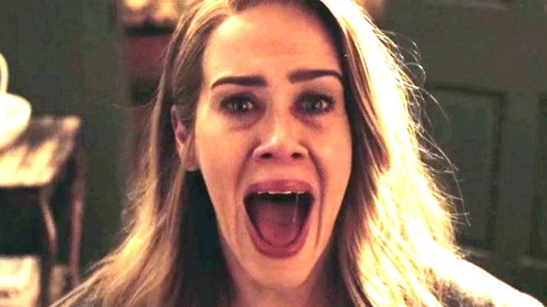 Sarah Paulson screaming