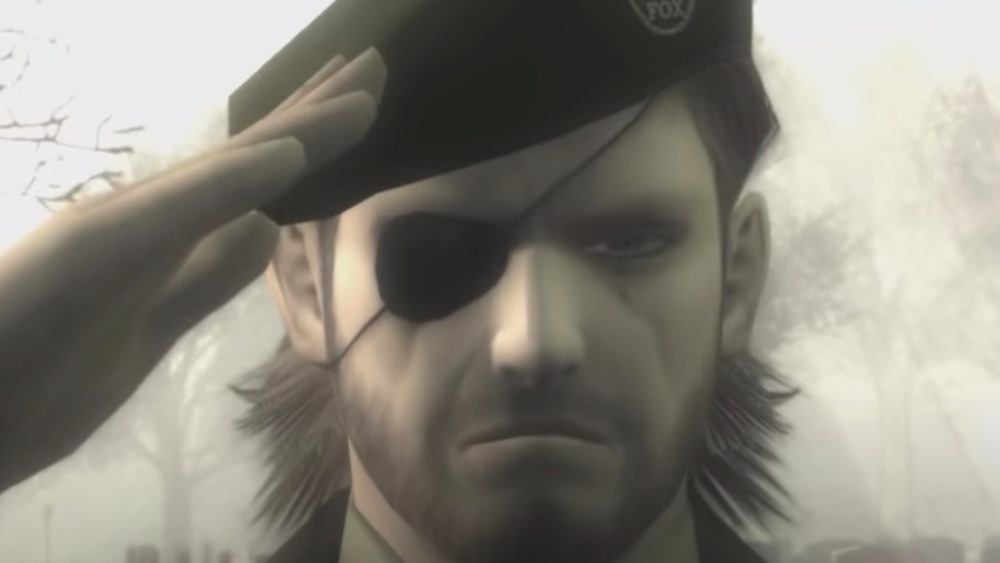 Metal Gear Big Boss saluting