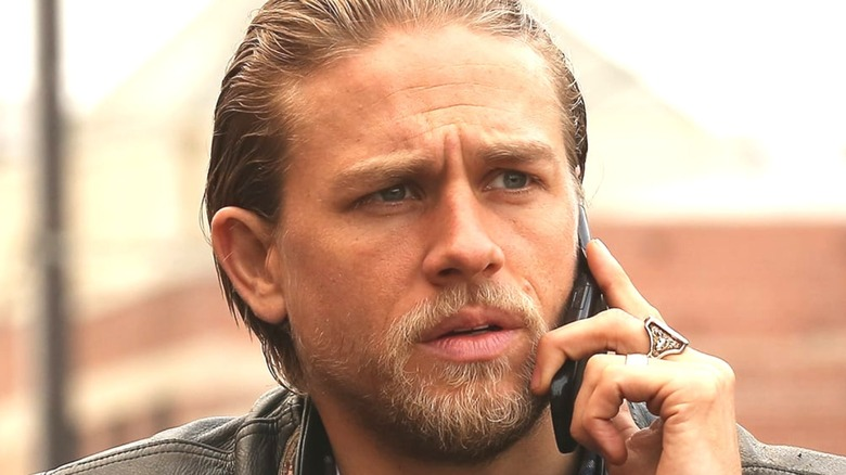 Jax Teller on a cell phone in Sons of Anarchy