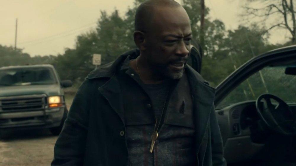 Morgan wearing Emile's mystery key on Fear the Walking Dead