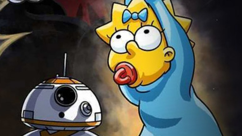 Maggie Simpson in Star Wars pose