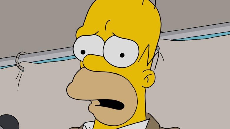 Homer Simpson worried
