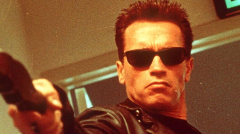 The Terminator points gun