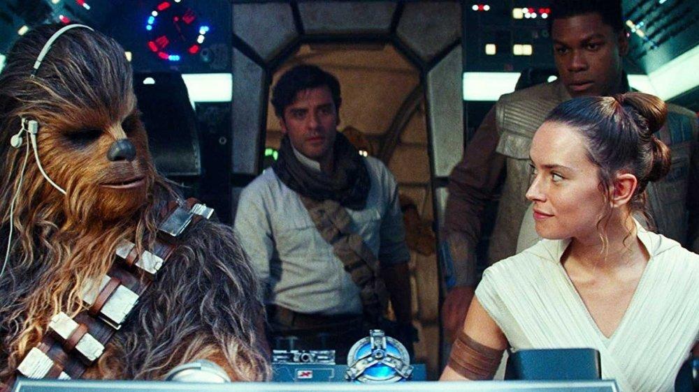 Joonas Suotamo, Oscar Isacc, John Boyega, and Daisy Ridley in Star Wars: The Rise of Skywalker