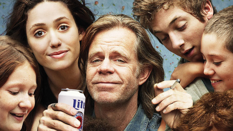 Fiona, frank and Gallaghers in Shameless