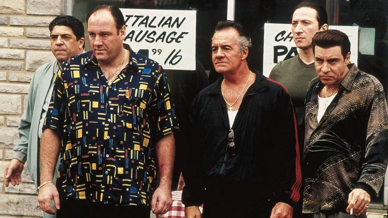 The cast of The Sopranos get up to no good