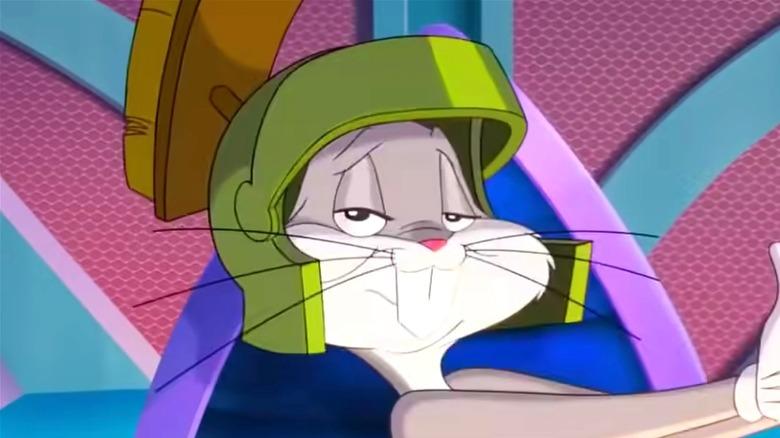Bugs Bunny wearing Marvin's helmet