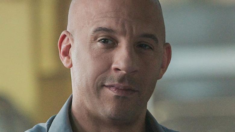 Vin Diesel smirking