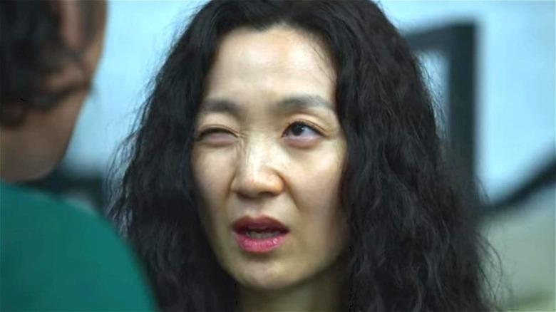Kim Joo-ryung as Han Mi-nyeo in Squid Game