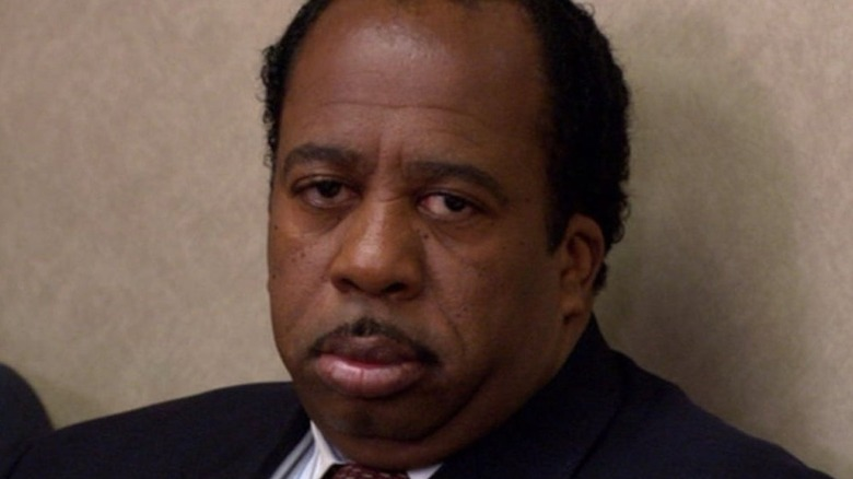 Stanley Hudson frowning