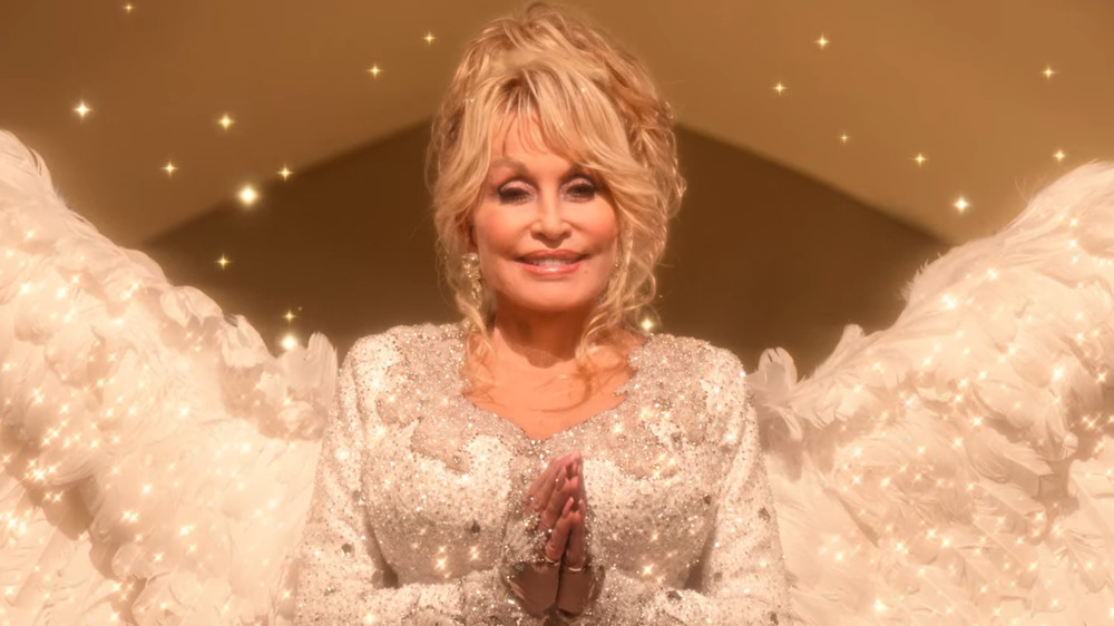 Dolly Parton as Angel in Christmas on the Square