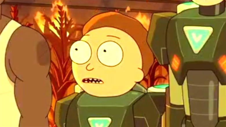 Rick and Morty in space suits