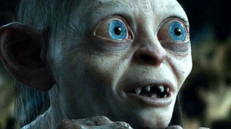 Gollum looks excited