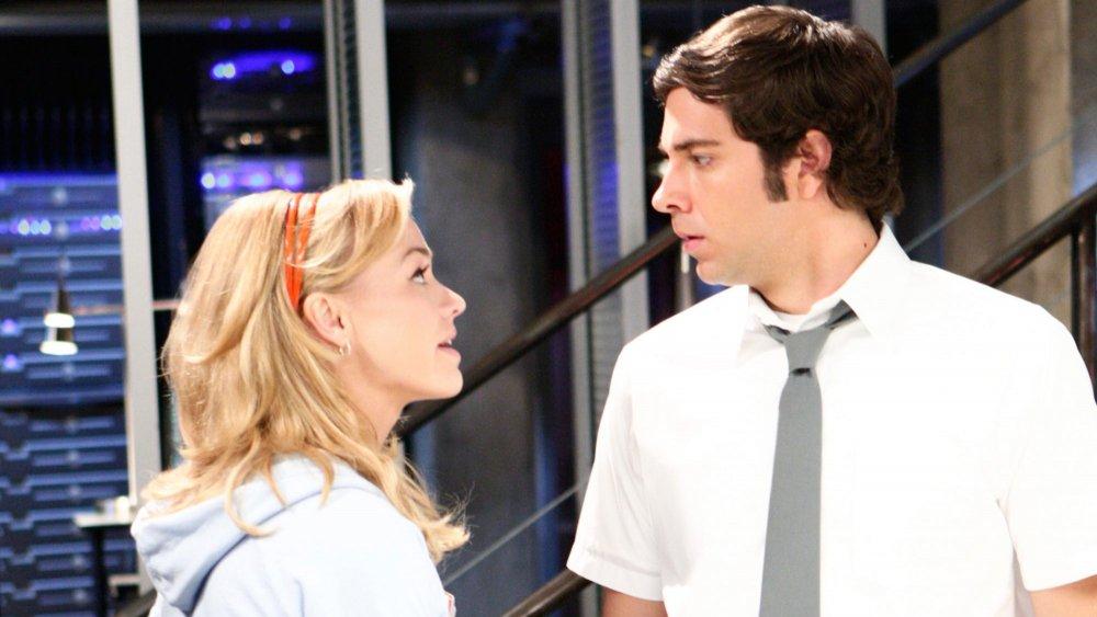 Zachary Levi as Chuck Bartowski and Yvonne Strahovski as Sarah Walker in Chuck