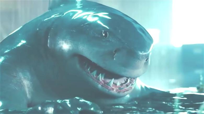 King Shark smiling