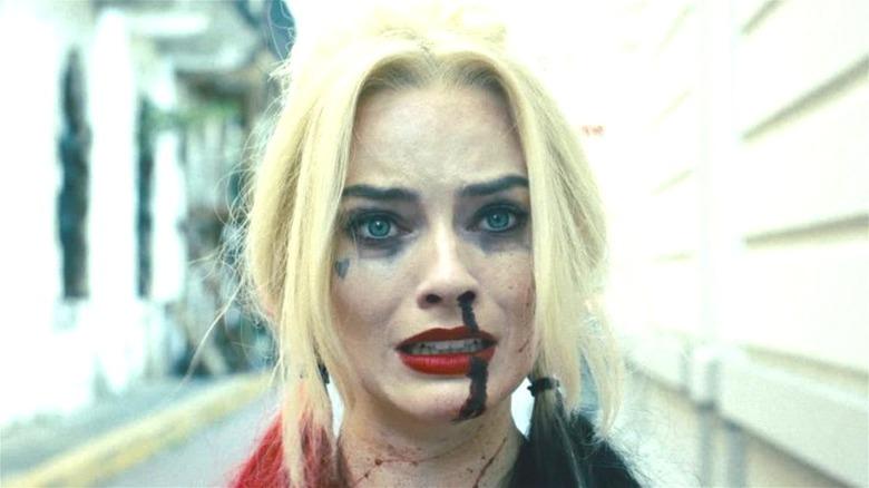Margot Robbie Harley Quinn bloody nose