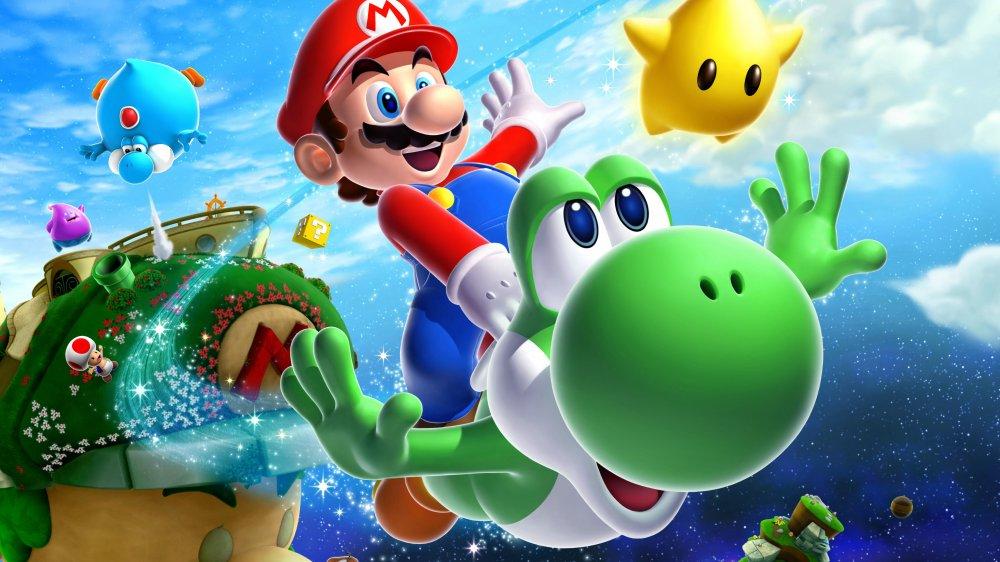 Mario and Yoshi Super Mario Galaxy