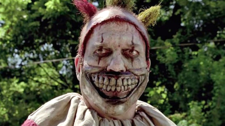 Twisty the Clown looking off-camera