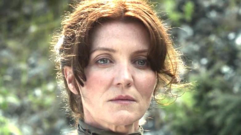Catelyn Stark looks sad